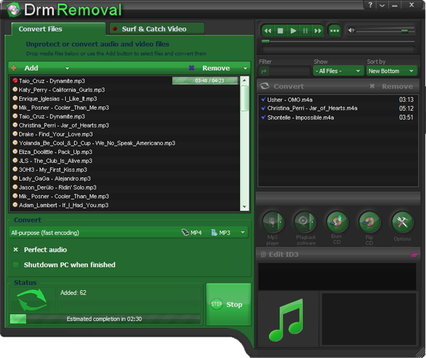 Unprotect WMA, convert it to MP3 and various other formats converting software. Copy your music to unprotected files.